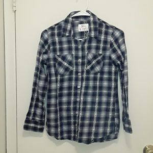 *3 for $8*Justice plaid button down shirt